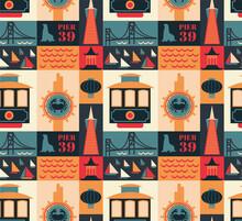 San Francisco Pattern Seamless Design Illustration