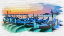 Watercolor Of Swinging Gondola...
