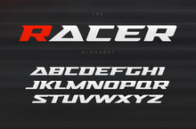 Racing Font, Aggressive And St...