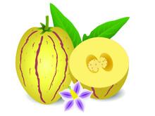 Whole Pepino Melons And Half W...