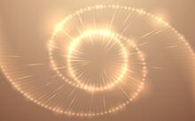 Abstract Gold Light Circle Bac...