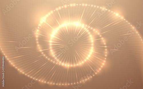 Obraz Abstract gold light circle background - fototapety do salonu