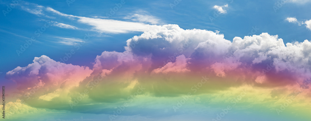 Fototapeta Gros nuage et reflets arc-en-ciel