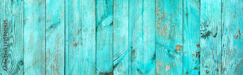 Fotografia, Obraz Weathered blue wooden background texture