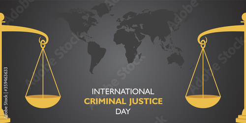Tablou Canvas vector illustration for International Criminal Justice Day observed on 17th July