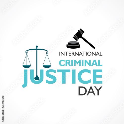 vector illustration for International Criminal Justice Day observed on 17th July Fototapet