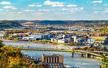 Fort Pitt Bridge Across The Monongahela River In Pittsburgh, Pennsylvania