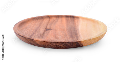 Tela wood plate isolated on white.