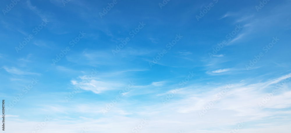 Fototapeta panorama blue sky with cloud and sunshine background