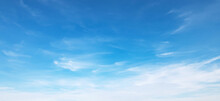 Panorama Blue Sky With Cloud A...