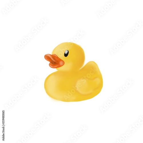 yellow rubber duck toy Fototapeta