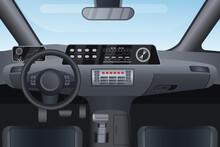Car Auto Salon Interior Vector...