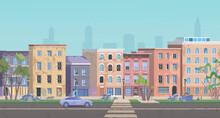 Ghetto Landscape Vector Illust...