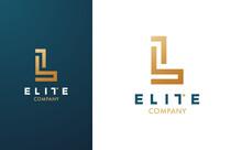 Premium Vector L Logo In Two C...