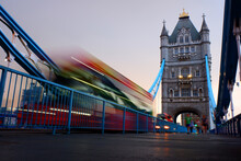 Blur Red Bus Passing On London...