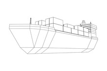 Heavy Dry Cargo Ship Of Bulk C...