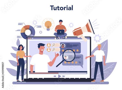 Public relations online service or platform. Idea of making Slika na platnu