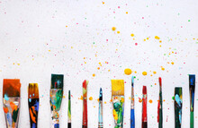 Colorful Background Of Paint B...