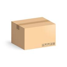 Cardboard Box Mockup Isolated ...
