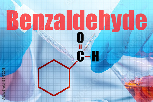 Photo The big word is Benzaldehyde and the molecular formula