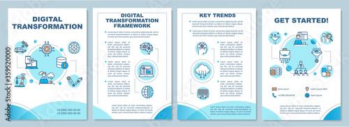 Digital transformation brochure template Fototapeta