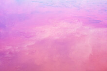 Pink Background. Clouds Are R...