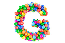 Letter G From Colored Balloons...