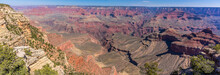 Panorama View Of The Grand Canyon, Arizona From Mather Point To Yaki Point In Springtime