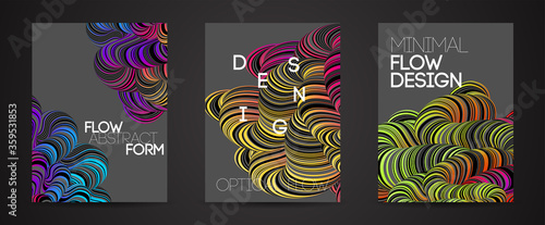 Modern abstract design background Rainbow Flow motion - 359531853