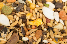 Mixture Of Bird Seeds And Nuts...