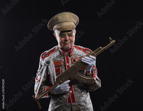 Obraz na plátně portrait of an old dictator general
