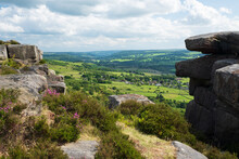 Derwent Valley And In Summer From Curbar Edge, Peak Districy, UK