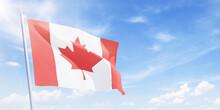 Canadian Flag On A Flagpole Wa...