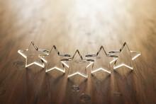 3D Render: Five Star Rating - ...