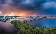 Aerial View Of Iconic Riga Cit...