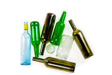 Group Of Glass Bottles And Jar...