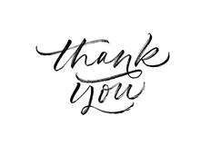 Thank You Greeting Ink Brush V...