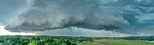 Panorama Of  A Thunderstorm Ap...