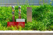 屋外消火栓の送水口設...