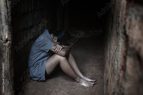 Photo Human trafficking concept