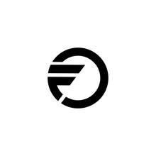 F Letter Logo,line,monogram Vector Design With Circle Concept