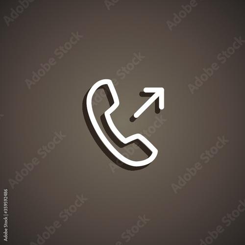 Obraz na plátne outgoing icon
