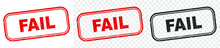 Fail Stamp. Fail Square Grunge Sign. Red Vintage Label. Vector EPS 10