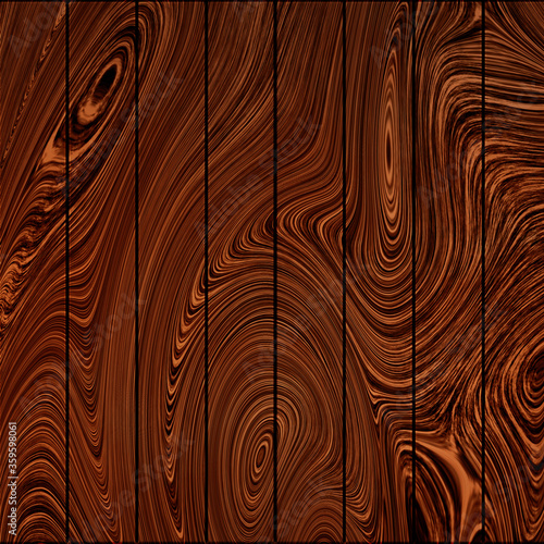 Photo Retro scratched brown wooden vintage board planks