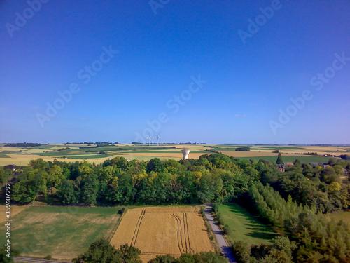 vue aérienne de la campagne dans le nord de la France Tableau sur Toile