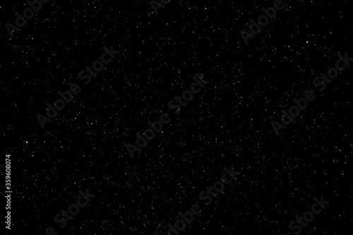 Fototapeta Stars and galaxy outer space sky night universe black starry background of shiny starfield  obraz