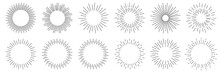 Sunburst Set. Sunburst Icon Co...
