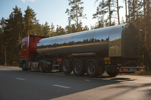 Fuel Tanker Truck On The Road