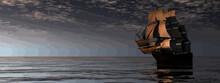 Beautiful Old Merchant Ship Fl...