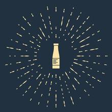 Beige Sauce Bottle Icon Isolat...